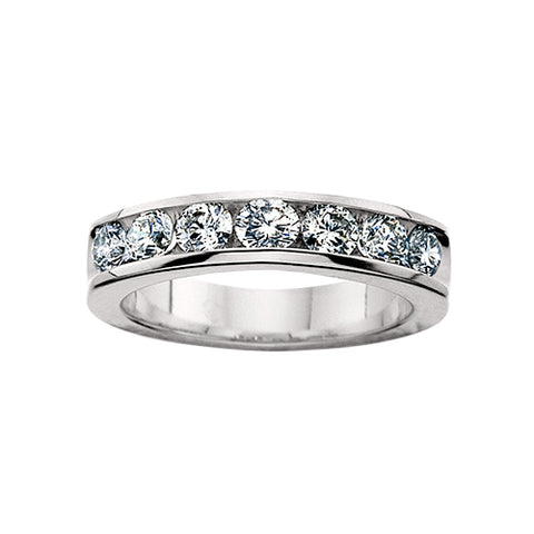 14 Karat Gold Diamond Channel Band - Oak Ridge Jewelers