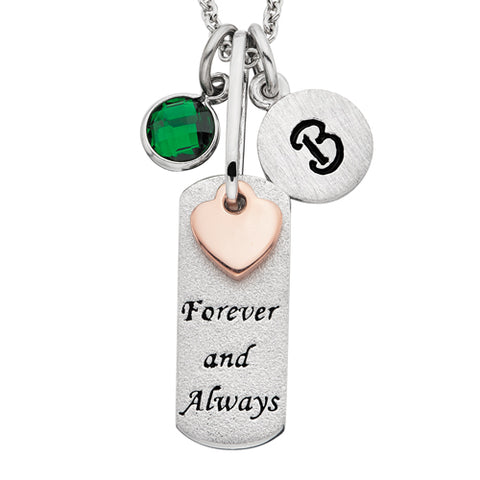 Sterling Silver Mommy Chic Forever & Always Necklace