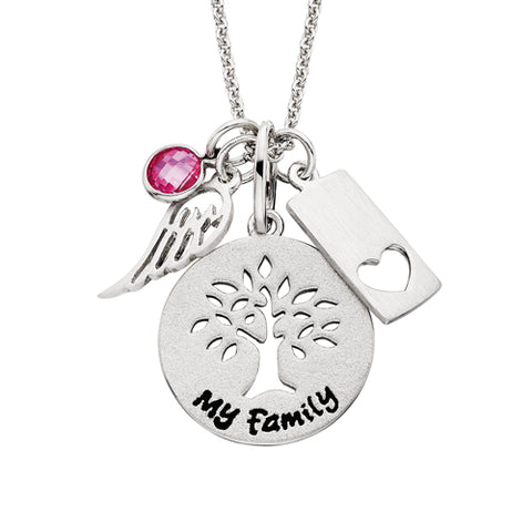 Sterling Silver Mommy Chic Family Tree Necklace