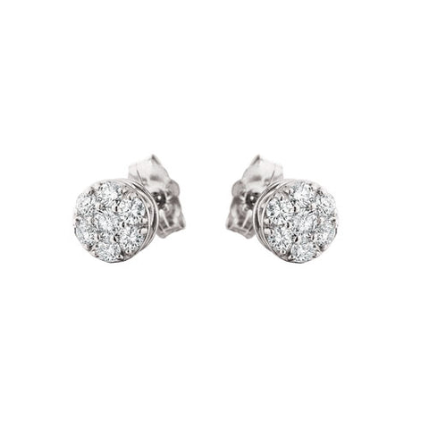 10 Karat White Gold Diamond Cluster - Victoria's Jewelry