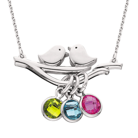 Sterling Silver Mommy Chic Love Bird Necklace