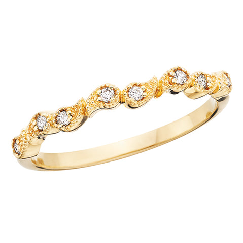 10 Karat Gold Diamond  Paisley Stackable Band - Oak Ridge Jewelers