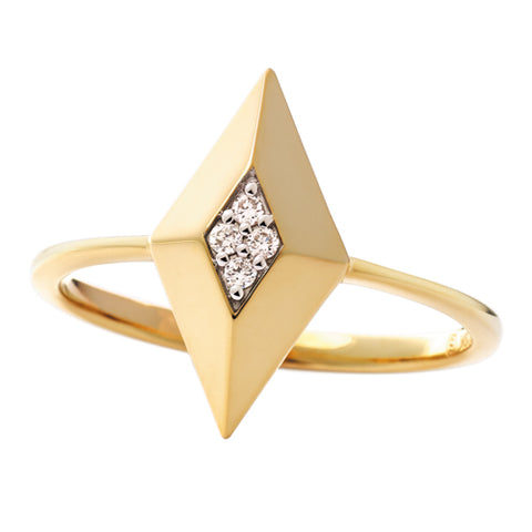 10 Karat Yellow Gold Diamond Star Ring - Victoria's Jewelry