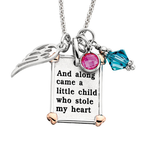 "Sterling Silver Mommy Chic ""And along came.."" Necklace - Oak Ridge Jewelers"