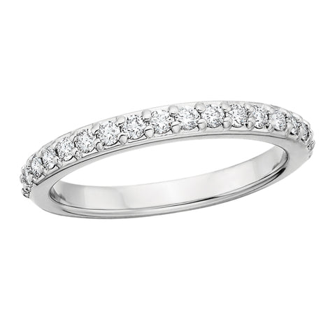 14 Karat White Gold .36tw Diamond Wedding Band - Oak Ridge Jewelers
