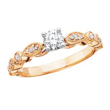 14 Karat Rose Gold Engagement Ring - Victoria's Jewelry