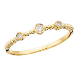 10 Karat Gold Stackable Diamond Bezel Band - Victoria's Jewelry