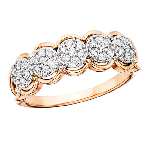 14 Karat Rose Gold Endless Radiance Diamond Ring - Oak Ridge Jewelers