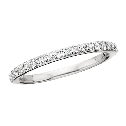 14 Karat White Gold Diamond Band - Victoria's Jewelry