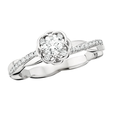 14 Karat White Gold Diamond Engagement Ring - Oak Ridge Jewelers