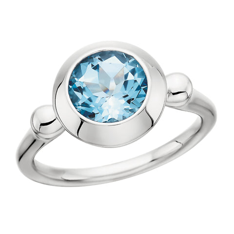 Sterling Silver Blue Topaz Ring - Oak Ridge Jewelers