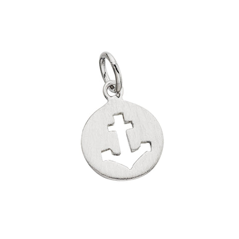 Sterling Silver Mommy Chic Anchor Charm - Victoria's Jewelry