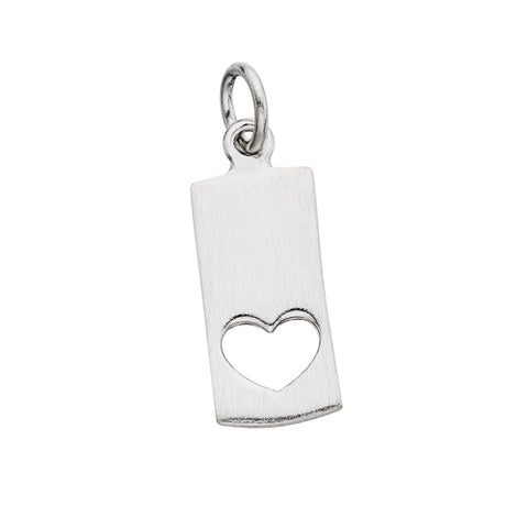 Sterling Silver Mommy Chic Heart Cut Out Charm - Victoria's Jewelry