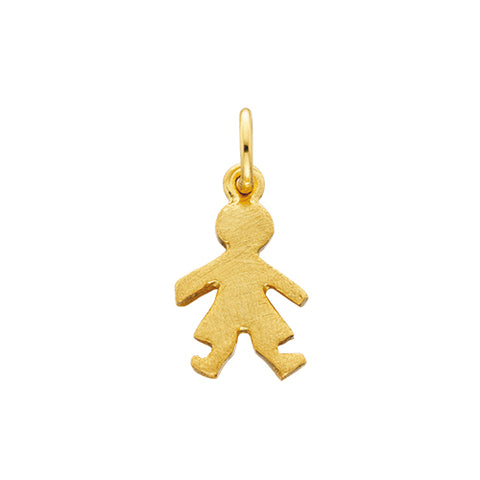 Sterling Silver with Yellow Overlay Mommy Chic Boy Charm