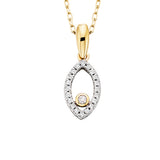 10 Karat Gold Diamond Marquise Shaped Pendant - Oak Ridge Jewelers