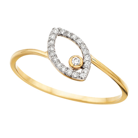10 Karat Gold Marquise Shaped Diamond Ring - Oak Ridge Jewelers