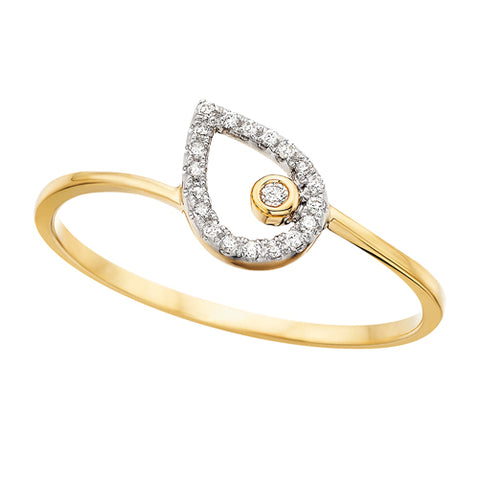 10 Karat Gold Pear Shaped Diamond Ring - Oak Ridge Jewelers