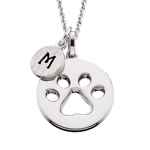Sterling Silver Mommy Chic Paw Print Necklace - Oak Ridge Jewelers