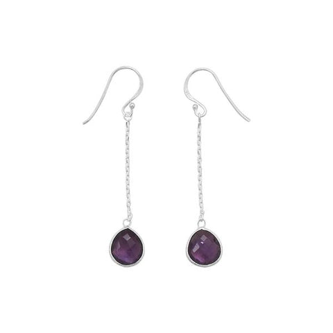 Sterling Silver Amethyst on chain and wire earrings - Oak Ridge Jewelers