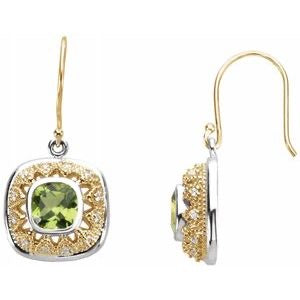 14kt & sterling silver Peridot Earrings - Oak Ridge Jewelers