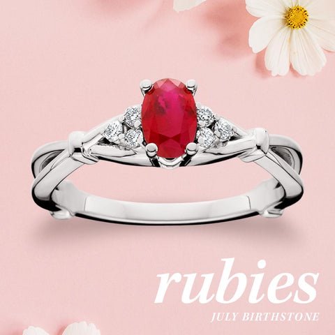 Ruby & Diamond ring - Victoria's Jewelry