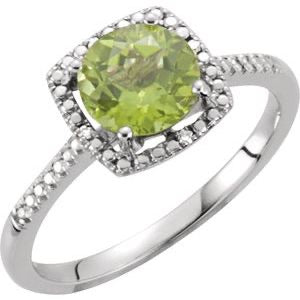 Sterling Peridot birthstone ring - Victoria's Jewelry