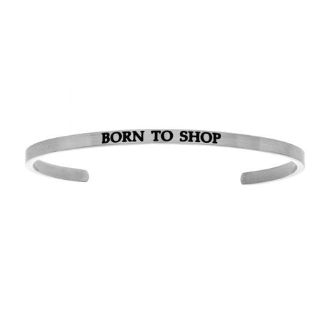 "Intuitions ""Born To Shop"" Cuff Bracelet - Oak Ridge Jewelers"