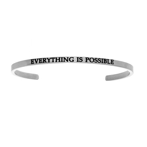 "Intuitions  ""EVERYTHING IS POSSIBLE"" Cuff Bracelet - Victoria's Jewelry"