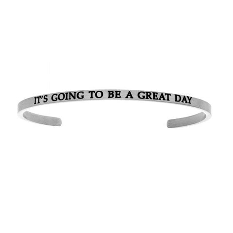 "Intuitions  ""IT'S GOING TO BE A GREAT DAY"" Cuff Bracelet - Victoria's Jewelry"