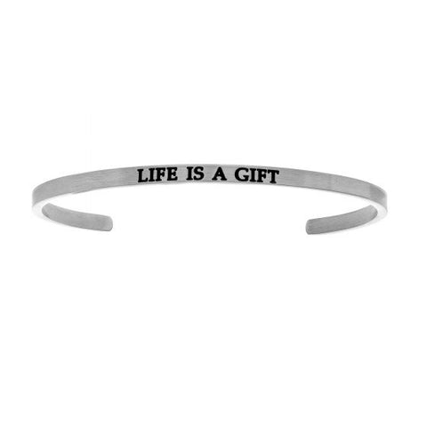 "Intuitions ""Life Is A Gift"" Cuff Bracelet - Oak Ridge Jewelers"
