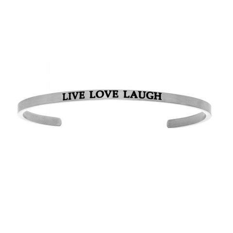 "Intuitions ""Live Love Laugh"" Cuff Bracelet - Oak Ridge Jewelers"