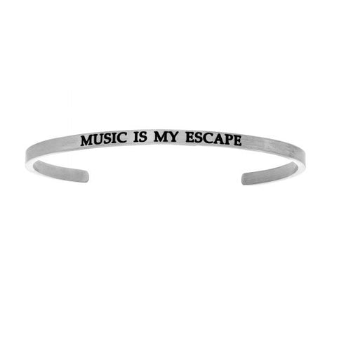"Intuitions ""Music Is My Escape"" Cuff Bracelet - Victoria's Jewelry"