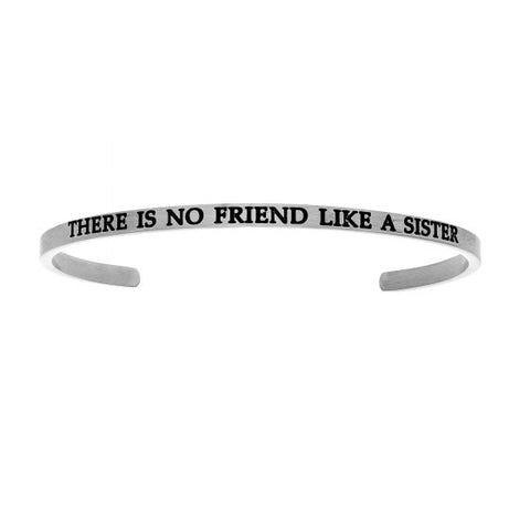 "Intuitions ""There Is No Friend Like A Sister"" Cuff Bracelet - Victoria's Jewelry"
