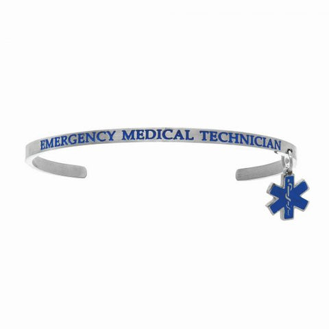 "Intuitions  ""Emergency Medical Technician"" Cuff Bracelet - Oak Ridge Jewelers"