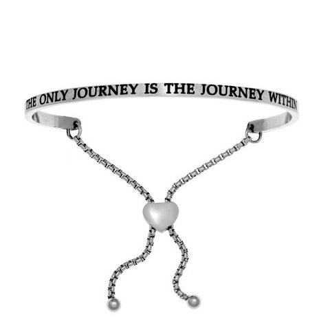 "Intuitions ""The Only Journey Is The Journey Within"" Friendship Bracelet - Oak Ridge Jewelers"
