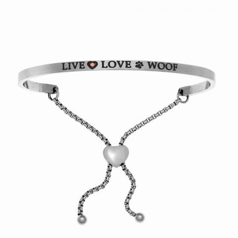 "Intuitions ""Live Love Woof"" Friendship Bracelet - Oak Ridge Jewelers"
