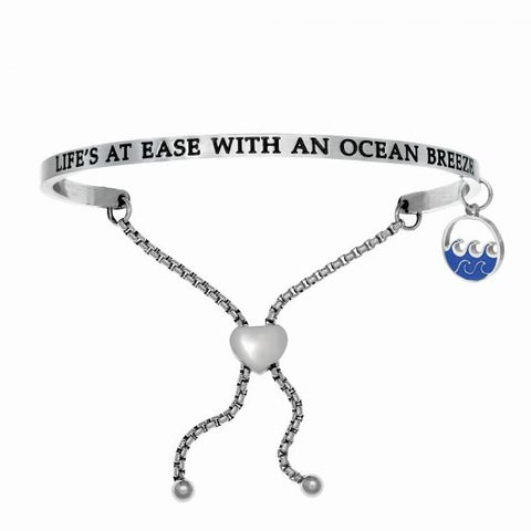 "Intuitions ""Life's at Ease with Ocean Breeze"" Friendship Bracelet - Oak Ridge Jewelers"