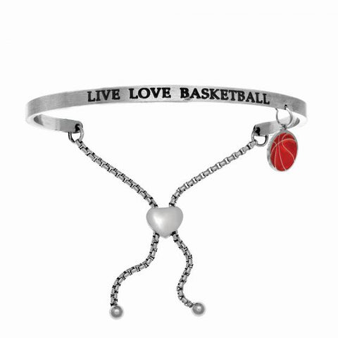 "Intuitions ""Live Love Basketball"" Friendship Bracelet - Oak Ridge Jewelers"