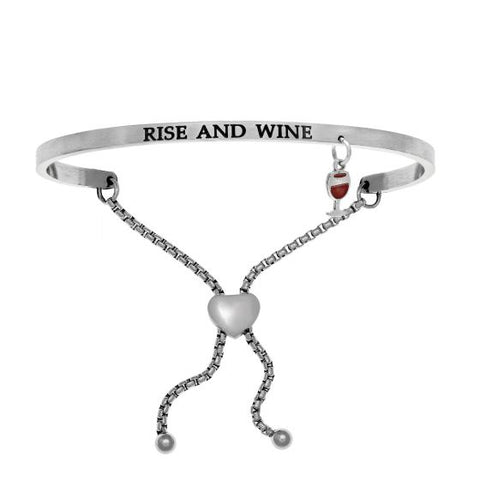 "Intuitions ""Rise and Wine"" Friendship Bracelet - Oak Ridge Jewelers"