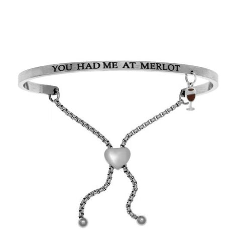 "Intuitions ""You Had Me At Merlot"" Friendship Bracelet - Oak Ridge Jewelers"