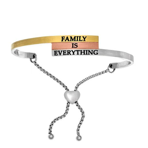 "Intuitions ""Family Is Everything"" Friendship Bracelet - Victoria's Jewelry"