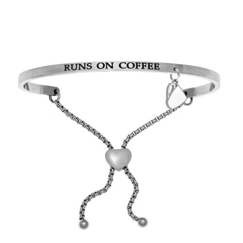 "Intuitions ""Runs on Coffee"" Friendship Bracelet - Victoria's Jewelry"