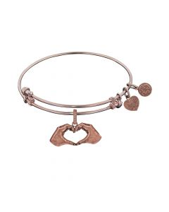 Angelica Heart Made with Hands Bangle - Oak Ridge Jewelers