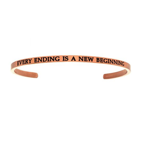 "Intuitions ""EVERY ENDING IS A NEW BEGINNING"" Cuff Bracelet - Victoria's Jewelry"