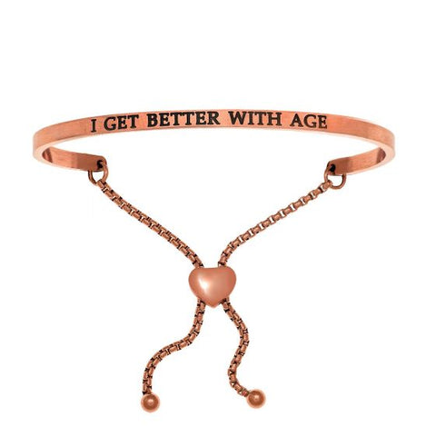 "Intuitions ""I Get Better with Age"" Friendship Bracelet - Oak Ridge Jewelers"