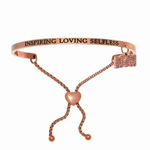 "Intuitions ""Inspiring Loving Selfless"" MOM dangle Friendship Bracelet - Victoria's Jewelry"