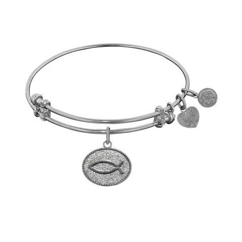Angelica Christian Fish Bangle - Oak Ridge Jewelers