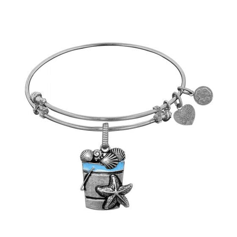 Angelica Beach Bucket with Enamel Sea Shells Bangle - Victoria's Jewelry