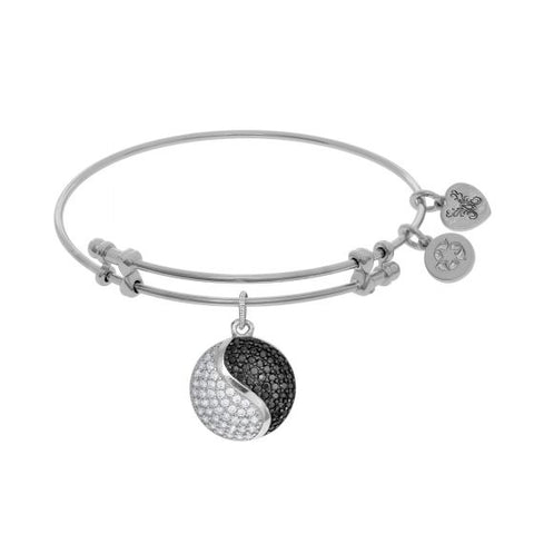 Angelica Black and White Yin-Yang  Bangle - Oak Ridge Jewelers