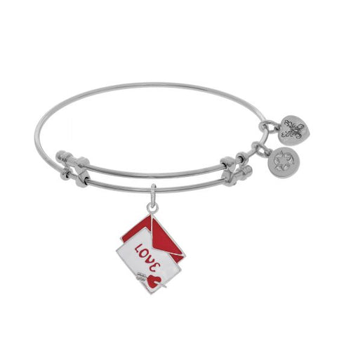 Angelica Red+White Enamel Love Letter with Heart+Arrow Bangle - Oak Ridge Jewelers